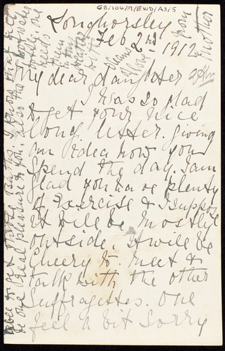 Letter to Emily in prison from her mother