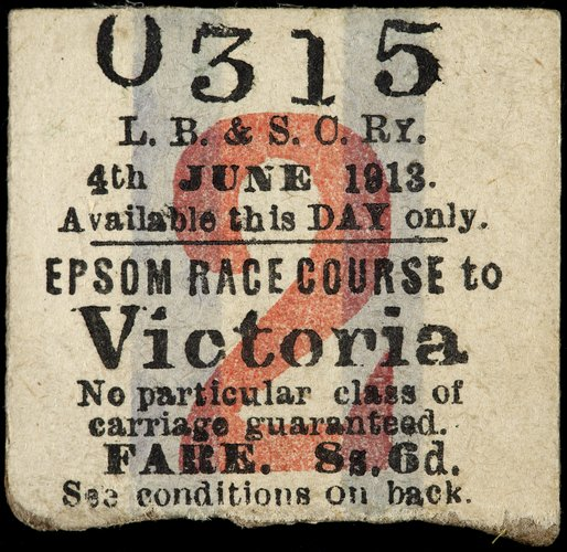 Return ticket Epsom to London Victoria