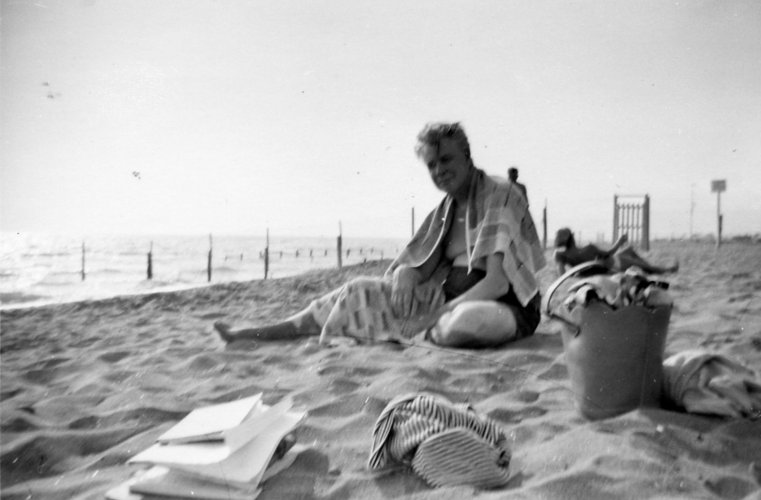 Lionel Robbins in Lyme Regis working on the Robbins Report, 1962